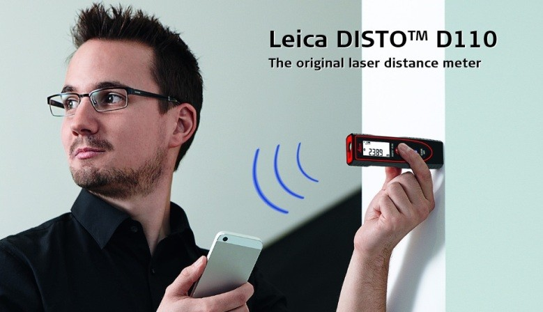 OYGINALNY DALMIERZ LASEROWY LEICA DISTO D110 Z BLOUETOOTH DO 60 M